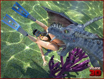 Clip ocean in 3d cartoon porn